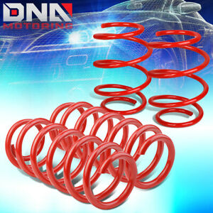 For 2016 2017 Honda Civic 1 5l Front Rear Suspension Lowering Coil Springs Red
