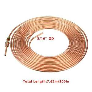 Copper Nickel Steel Brake Line Tubing Kit 3 16 Od 25 Foot Coil Roll For All Auto