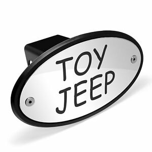 Toy Jeep Chrome Metal Plate 2 Inch Tow Hitch Cover
