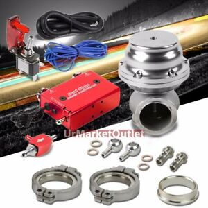Red Dual Stage Electronic Mt Turbo Charger Boost Control silver Ext Wastegate