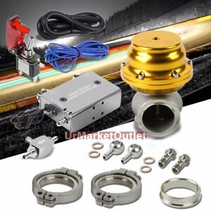 Silver Dual Stage Electronic Turbo Charger Boost Control gold 44mm Ext Wastegate