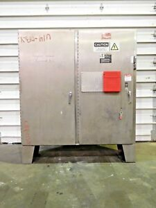 Rx 4207 Stainless Two Door Electrical Control Cabinet 74 X 87 304ss