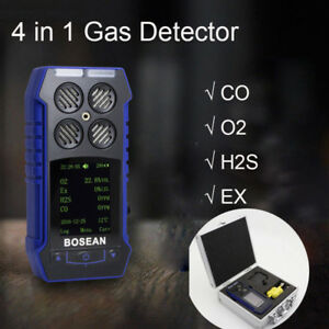 4 In1 Gas Monitor Co O2 H2s Oxygen 4 Gas Detector Analyzer Ex Toxic Gas Meter Us