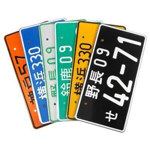 Hot New Universal Numbers Japanese Auto Car License Plate Aluminum Us