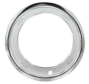 15 X7 Chevy Gm Bow Tie Stainless Steel Trim Rings Beauty Rings Set Of 4 New