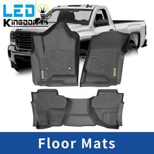 Floor Mats Liners For 15 18 Chevy Silverado Gmc Sierra All Weather Protection
