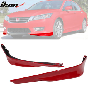 Fits 13 15 Accord Sedan Hfp 2pc Front Lip Underbody Spoiler R94 San Marino Red