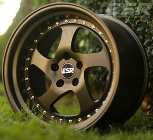 17 Esr Sr02 Bronze Wheels For Honda Civic Accord 5x114 3 17x8 5 30 Rims Set 4