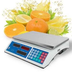 Usa 30kg 66lb Digital Weight Scale Price Computing Food Meat Produce Deli Market
