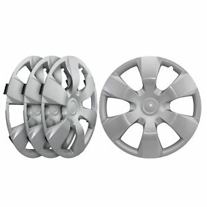 Universal Fit Silver Replacement Wheel Hubcaps 16 Inch Set Of Four