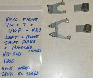 Emco Maximat Lathe Series Headstock Left Right Forks W Shoes Handles 1206