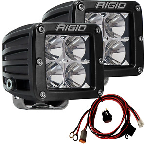 Rigid Industries 202113 D Series Pro Led Lights Pair Of Dually Flood Projection