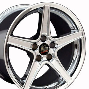 18x10 18x9 Wheels Fit 94 04 Ford Mustang Saleen Style Chrome Rims Set Oew
