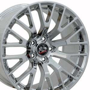 18x9 Pvd Chrome 2015 Mustang Gt Style Wheels Set Of 4 18 Rims Fit Ford