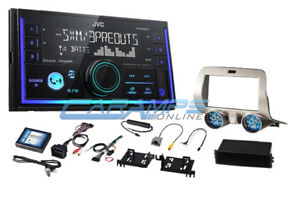 New Jvc Bluetooth Stereo W Sirius Xm Radio Aux usb W Install Kit For Camaro