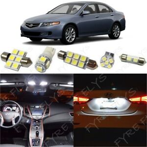 12x White Led Interior Lights Package Kit For 2004 2008 Acura Tsx Tool At2w