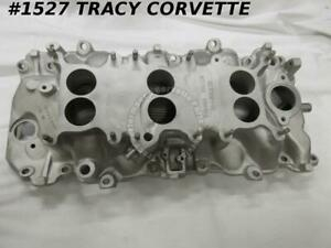 1967 Corvette Used Alum 3894382 427 400 Hp Intake Dated 3 20 67 Tri Power 3 X 2
