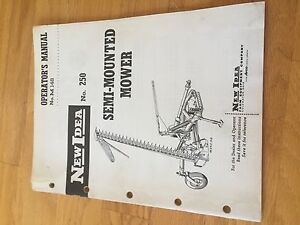 New Idea 250 Mower Operator Maintenance Tractor Manual