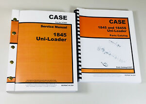 Case 1845 Uni Loader Skid Steer Service Manual Parts Catalog Shop Book Overhaul