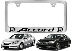 Chrome Metal Honda Accord License Plate Frame New Free Shipping Usa
