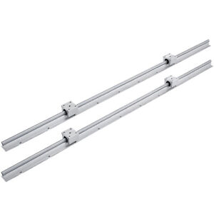 12mm Sbr12 1000mm Linear Slide Guide Shaft 2 Rail 4sbr12uu Bearing Block Cnc Set
