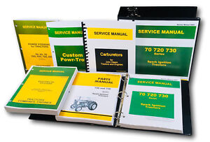 Service Manual Parts Catalog Set For John Deere 720 730 Spark Ignition Tractor