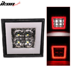 Universal Square Clear Led Rear Tail Third 3rd Brake Lights Stop Safety Lamp