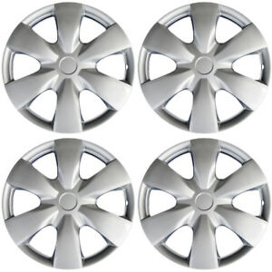 Hubcaps Fits 09 12 Toyota Yaris 15 Inch Silver Replacement Wheel Cover Rim