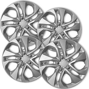 Hubcaps Fits 14 15 Honda Civic 16 Inch Silver Replacement Wheel Cover Rim