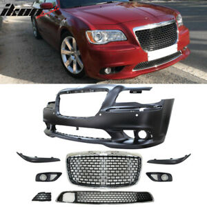 Fits 11 14 Chrysler 300 Front Bumper Cover Conversion With Grille Pp