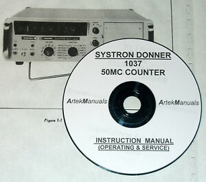 Systron donner 1037 50mc Counter Operating Service Manual