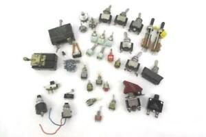 Large Lot Of Vintage Micro toggle Switches Various Size And Types