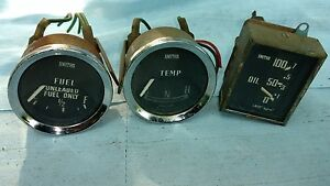 Vintage Smiths Temperature Fuel And Oil Gauges
