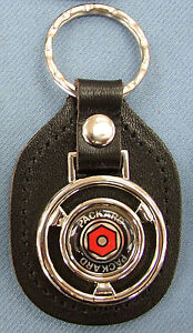 Vintage Black Packard Steering Wheel Leather Key Ring 1950 1951 1952 1953 1954