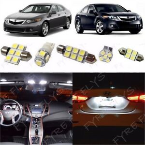 14x White Led Lights Interior Package Kit For 2009 2014 Acura Tsx Tool At1w