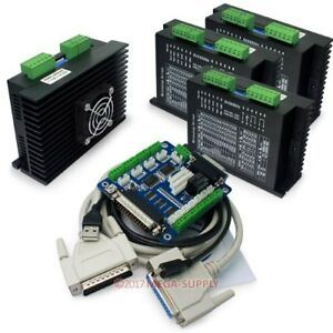 Cnc Kit Cnc Breakout Board cables 4 Axis Ma860h Stepper Driver Controller 7 2a