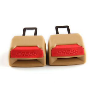 Brown Universal Auto Car Seat Belt Buckle Clip Extender Safety Alarm Stopper Kit