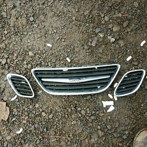 Saab Grille Grill 9 3 2003 2007 Upper 3 Center And Left Right 3 Piece 93 Grille