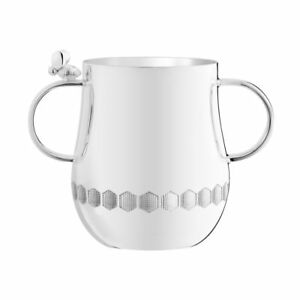 New Christofle Beebee Baby Cup With 2 Handles Brand Nib 4260705 Silver Plated