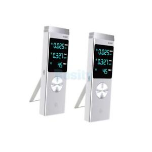 2pc Pm2 5 Tvoc Pm10 Meter Home Air Quality Monitor Formaldehyde Tester Alarm
