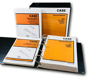 Case 26 26b 26s Backhoe 450 Crawler 207 Diesel Engine Service Parts Manual Set