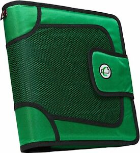 Case it Velcro Closure 2 inch Organizer Ring Binder With Tab File Green