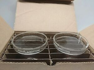 Box Of 12 New Old Stock Corning Pyrex Petri Dish Bottoms 3160