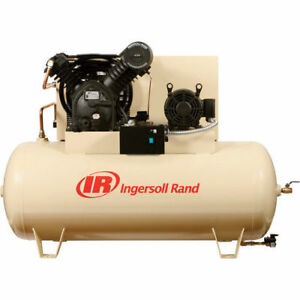Ingersoll Rand 10hp Two Stage Cast Iron Air Compressor 2545e10 vp1 New