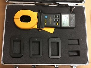 Reed Instruments Ms2301 Clamp on Ground Resistance Tester Hard Carrying Case