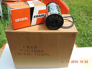 Vintage Fram Oil Filter Element Canister Type Nib 1987 Chrysler C6 1930 S