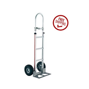 Magliner Hand Truck 60 Tall With Single Grip Handle 18 Nose 10 Air Tire
