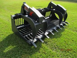 Mtl 84 X Series Rock Grapple Bucket W teeth Skid Steer Bobcat ship 179