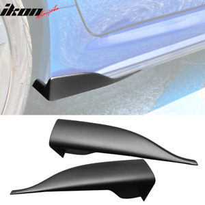 Universal V2 Style Endcaps Add On For Side Skirt Extensions Pp