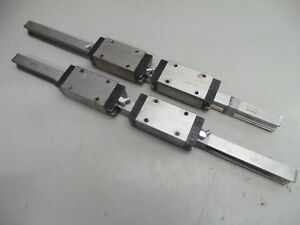 2 Rexroth R16242920 Cnc Linear Slide Rails 4 Bearing Blocks 500mm 19 3 4